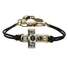 Michal Golan Flower blue cross bracelet
