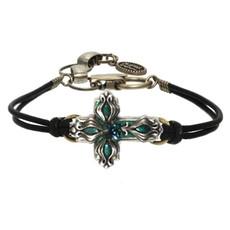 Michal Golan Floral Cross Bracelet