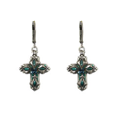 Michal Golan Floral Cross Earrings