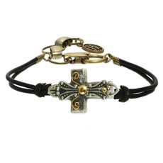 Michal Golan Small grey and gold bracelet
