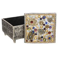 Michal Golan Multicolor Judaica Jewelry Box