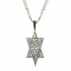 Michal Golan Large crystal silver star of david