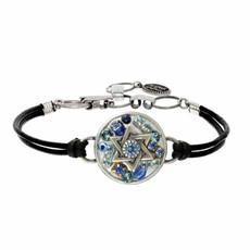 Michal Golan Multi Blue Stone Star of david Bracelets