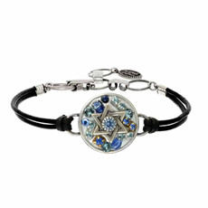 Michal Golan Multi Blue Stone Star of david Bracelets