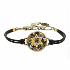 Michal Golan Multi Dark Stone Star of david Bracelets