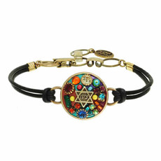 Michal Golan Multi Colors Stone Zion Star of david Bracelets