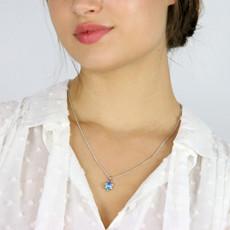Michal Golan Small crystal blue star of david pendant