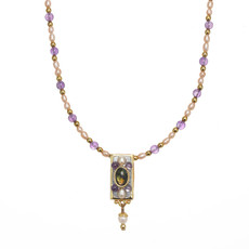 Michal Golan Amethyst Bar Necklace
