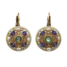 Michal Golan Amethyst Circle Earrings