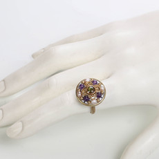 Michal Golan Amethyst Circle Ring
