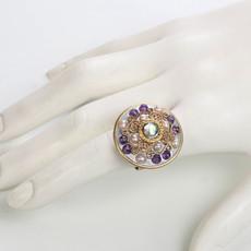 Michal Golan Amethyst Large Circle Ring