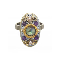 Michal Golan Amethyst Long Oval Ring