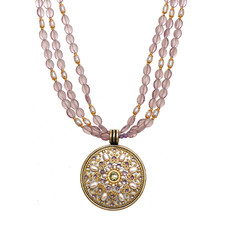Michal Golan Amethyst Medallion Necklace