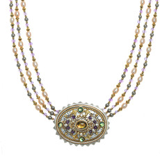 Michal Golan Amethyst Oval Statement Necklace