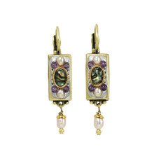 Michal Golan Amethyst Bar Earrings