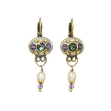 Michal Golan Amethyst Oval Dangling Earrings
