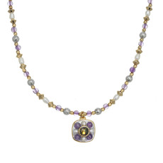 Michal Golan Amethyst Square Necklace