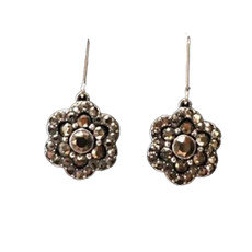 Michal Negrin Fresh Picks  Silver 925 Flower French Wire  Earrings
