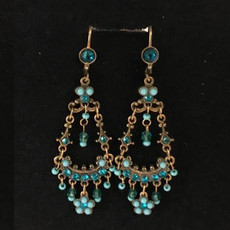 Michal Negrin French Wire Rose Earrings