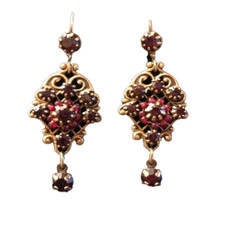 Michal Negrin Swarovski Crystals Wire Earrings