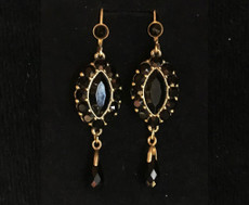 Michal Negrin Oval Dangling Earrings
