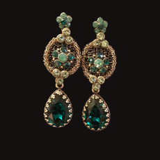 Michal Negrin Lace Tear Drop Earrings