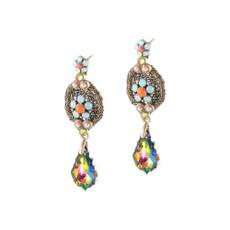 Michal Negrin Lace Tear Drop Multi color Earrings