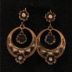 Michal Negrin Girly Swirly Flower Earrings