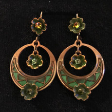 Michal Negrin Girly Swirly Flower French Wire  Earrings