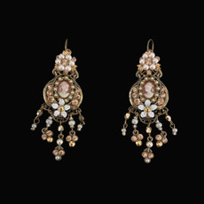 Michal Negrin Victorian french wire Earrings