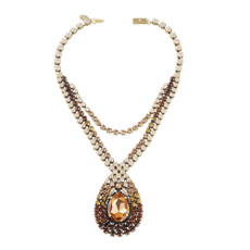 Michal Negrin Big Tear Drop Stone  Necklaces