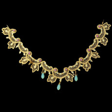 Michal Negrin Lace Golden Necklace