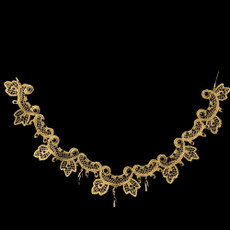 Michal Negrin Lace Golden Crystal Necklace