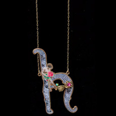 Michal Negrin Initial H Necklace