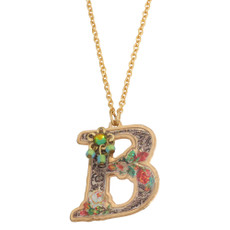 Michal Negrin Initial B 24K Gold Plated Necklace