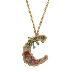Michal Negrin Initial C 24K Gold Plated Necklace