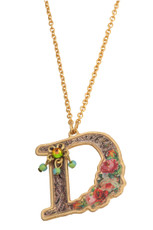 Michal Negrin Initial D 24K Gold Plated Necklace