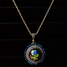 Michal Negrin Blue Rhapsody Flower Necklace