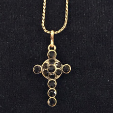 Michal Negrin Crystals Small Cross Necklace