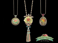 Michal Negrin Flower Crown Necklaces
