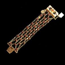 Michal Negrin Shimmering 24 Karat Gold Plated Rose Bracelet