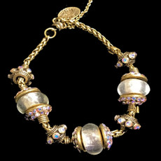 Michal Negrin Joy Charm Clear Crystal Bracelet