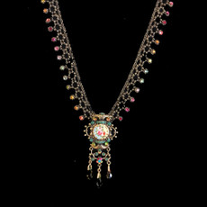 Michal Negrin Rainbow Crystal Flower Necklace