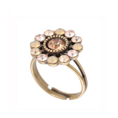 Michal Negrin Crystal Flower Sparkle Ring
