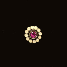 Michal Negrin Crystal Flower Hot Pink Ring