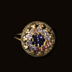 Michal Negrin Timeless Crystal Gold Ring