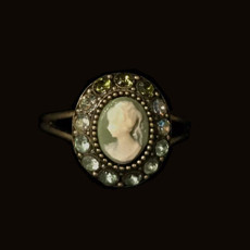 Michal Negrin Victorian Crystal Ring