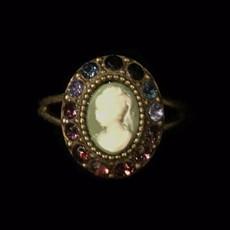 Michal Negrin Victorian Crystal Adjustable Ring