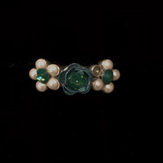 Michal Negrin Silver 925 Swarovski Crystal Ring