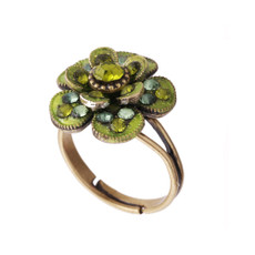 Michal Negrin Colored Flower Ring